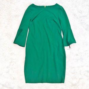 Calvin Klein bell sleeve sheath dress NWT